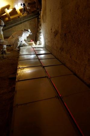 Muons Emulsion films setup in lower Chamber of Bent Pyramid 4