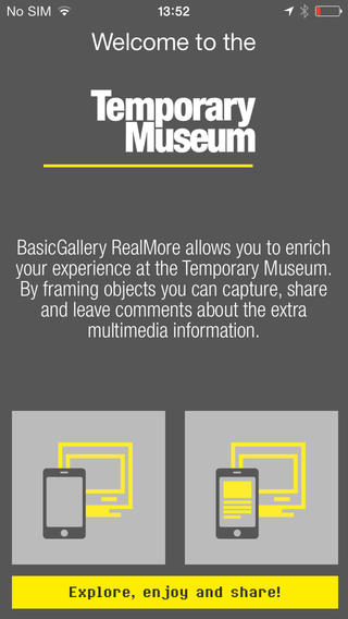 temporary museum app
