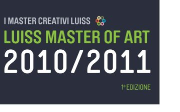 Luiss Master Of Art