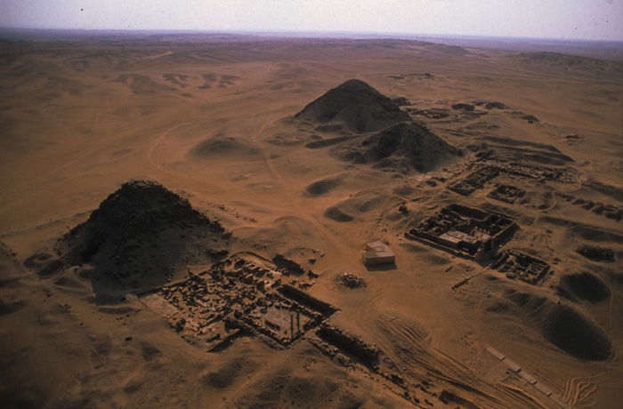 Aerial view of the pyramids of Abusir. (Photo: SCA archives)